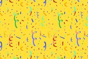 Colorful serpentine and confetti