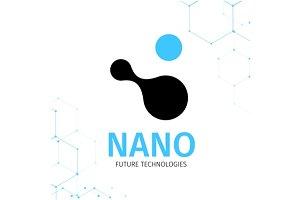 Nano logo - nanotechnology.