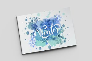 Winter Lettering Typography