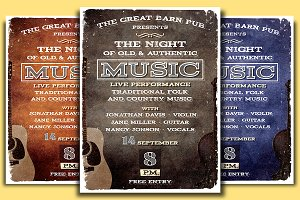 Country Folk Flyer | Poster Template