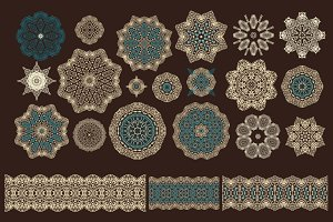 48 rosettes, 15 ribbons, 26 patterns