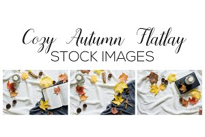 Cozy Autumn Flatlay Stock Images