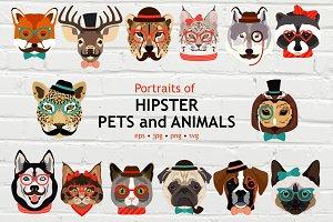Hipster Animals Big Set