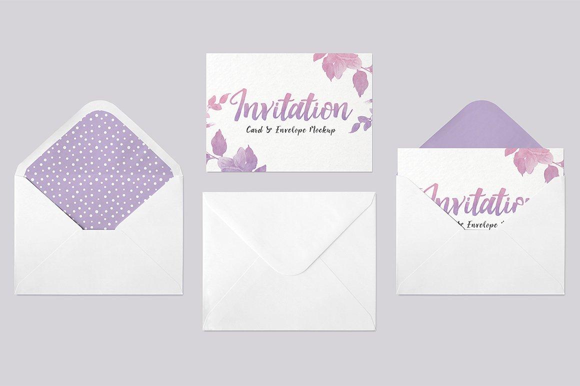 Invitation Card Amp Envelope Mockup Print Mockups