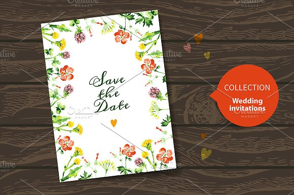 Save The Date Floral Wedding Cards