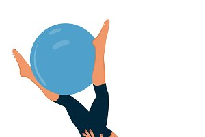fitness woman and stability ball