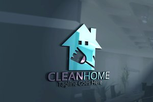 Clean Home-Logo Template