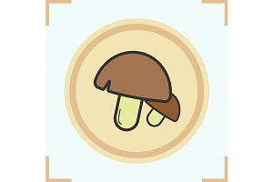 Mushrooms color icon. Vector