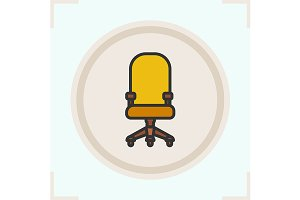 Computer chair icon. Vector