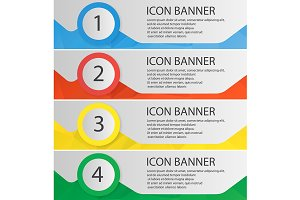 Banner templates set. Vector