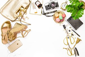 Fashion flat lay
