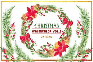 Christmas Watercolor Vol. 1