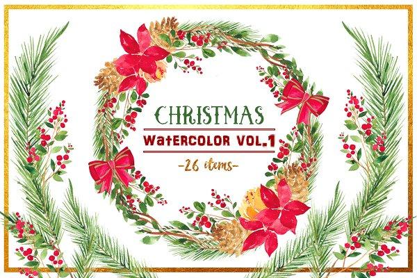 Christmas Watercolor Vol. 1