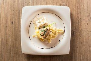 Fish and pasta