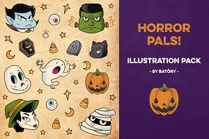 Horror Pals! - Illustration Pack