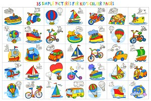 35 pictures for kids' color pages