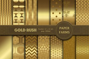 Decorative gold digital paper