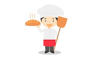 Baker vector illustration