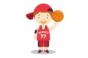 Basketball Player vector illustratio