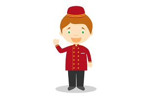 Bellboy vector illustration
