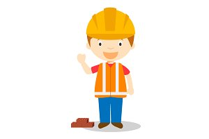 Builder vector illustration