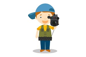 Cameraman vector illustration