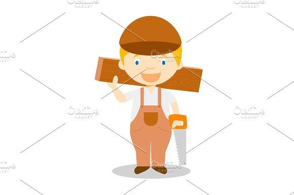 Carpenter vector illustration