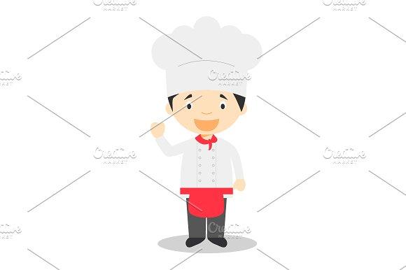 Chef vector illustration in Illustrations