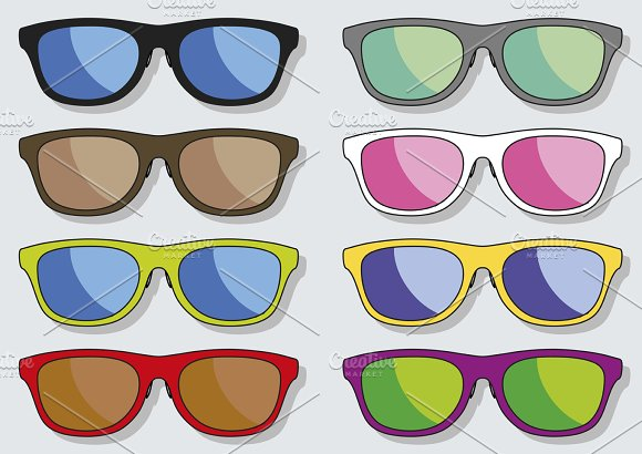 Sun glasses. Spectacles. Sunglasses - Objects
