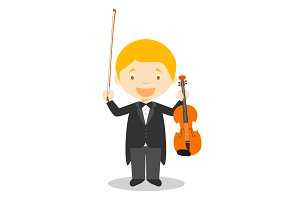 Classic Musician vector illustration