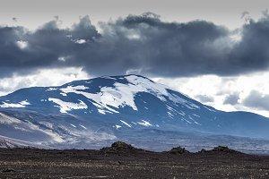 Black contrast landscape in Iceland