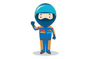 F1 Pilot vector illustration