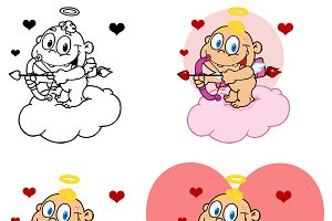 Happy Baby Cupid. Collection