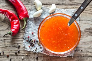 Bowl of thai sweet chili sauce