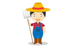 Farmer vector illustration