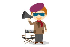 Filmmaker vector illustration