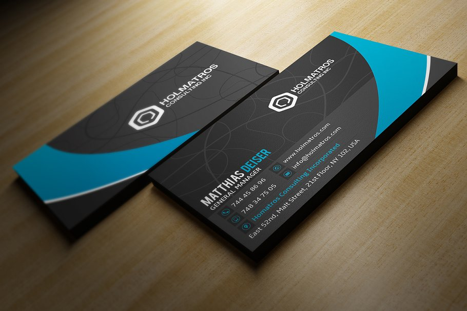 Modern Grey Business Card in Business Card Templates - product preview 2