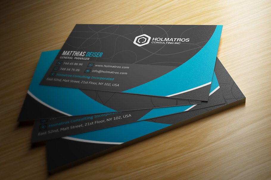 Modern Grey Business Card in Business Card Templates