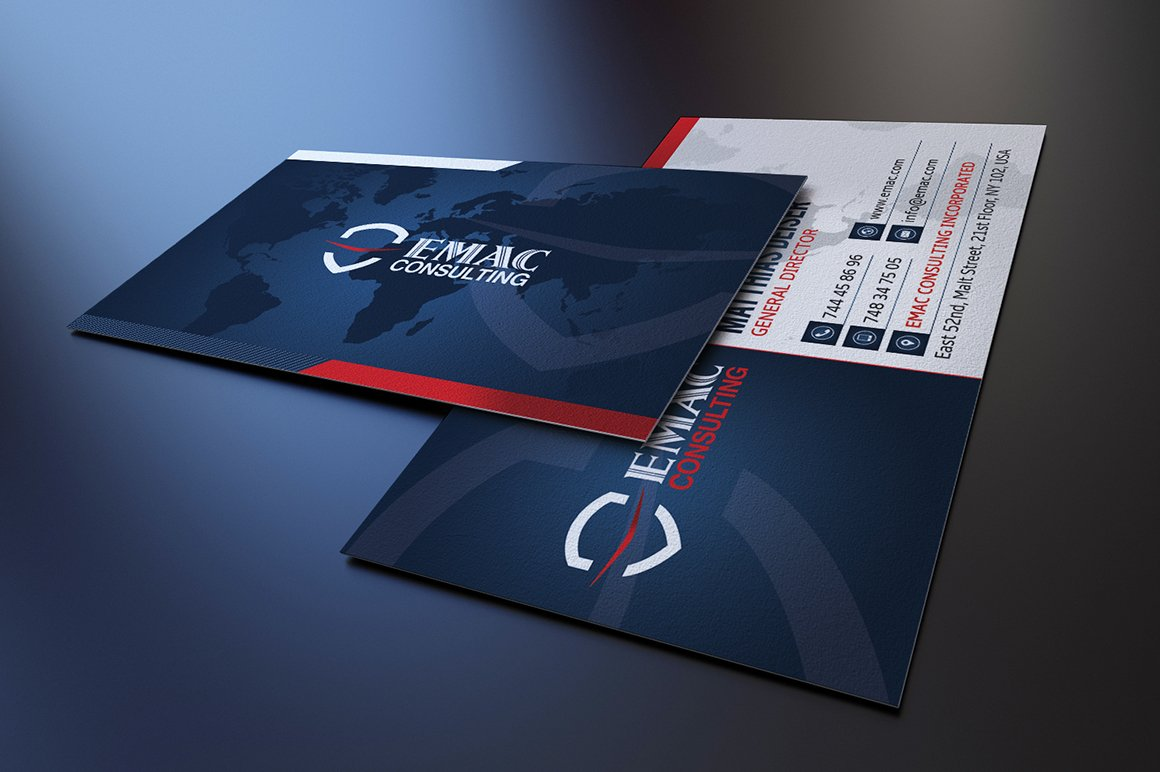 Corporate business card business card templates creative market reheart Images