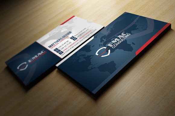 Corporate Business Card Business Card Templates Creative Market