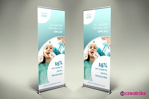 Dental Roll Up Banner - v029