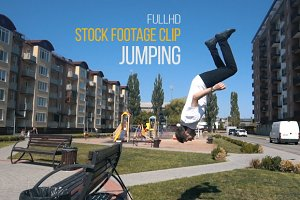 Jumping - Stock Footage Video Clip