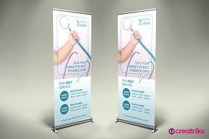Pediatric Roll Up Banner - v031