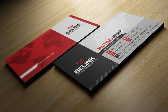 Red Corporate Business Card Templates Creative Market