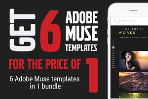 Revival. Muse Templates (6 in 1)