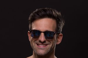 cute smiling sunglasses man