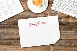 Office desk Resolutions Goals 2017