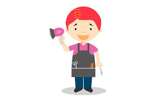 Hairdresser vector illustration