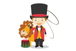 Lion Tamer vector illustration