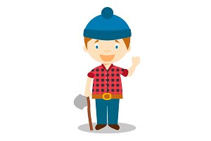 Lumberjack vector illustration